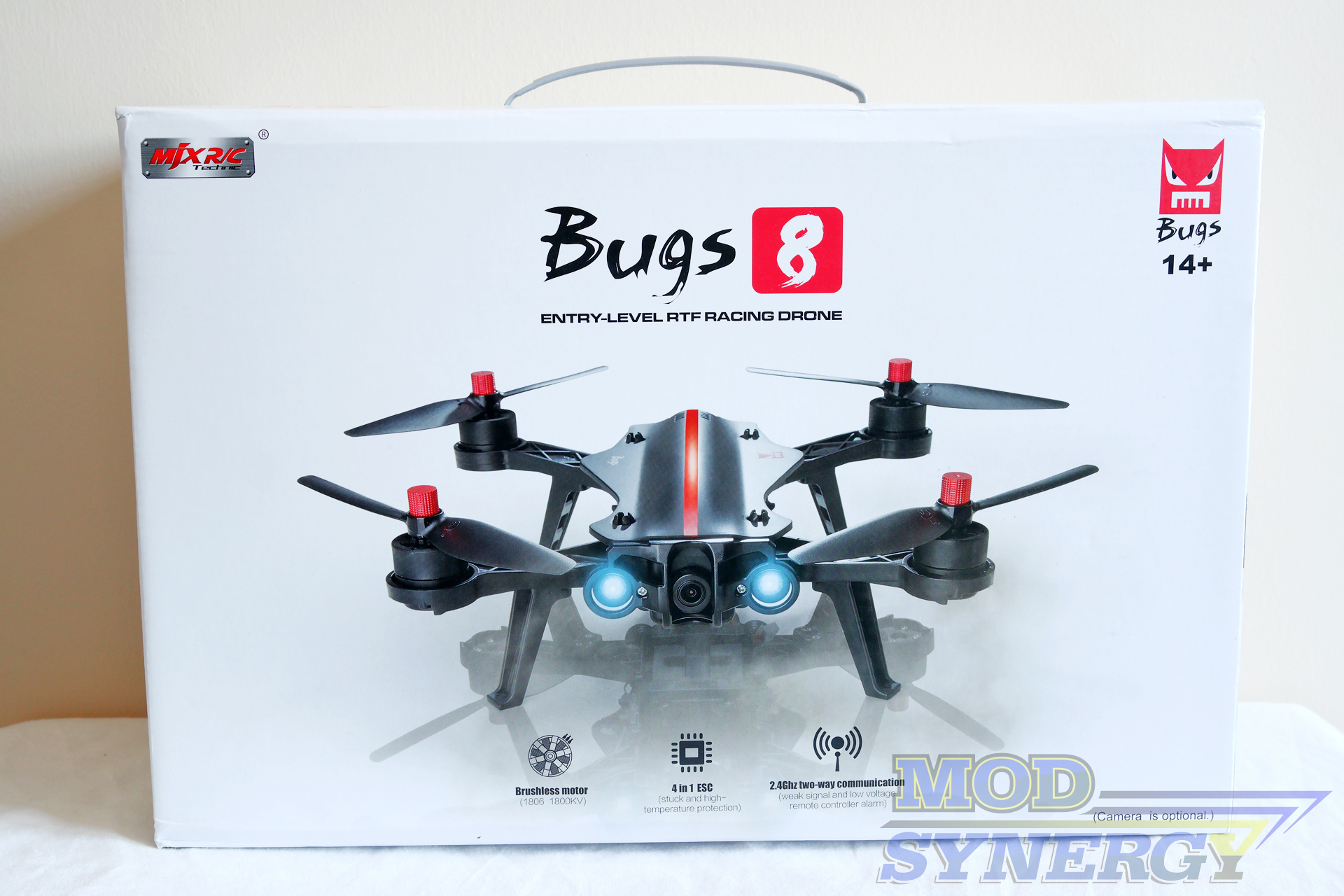 The MJX Bugs 8 250mm FPV Brushless Racing Drone Comes Packaged In A Visually Appealing Corrugated Box With Design Similar To 3 However
